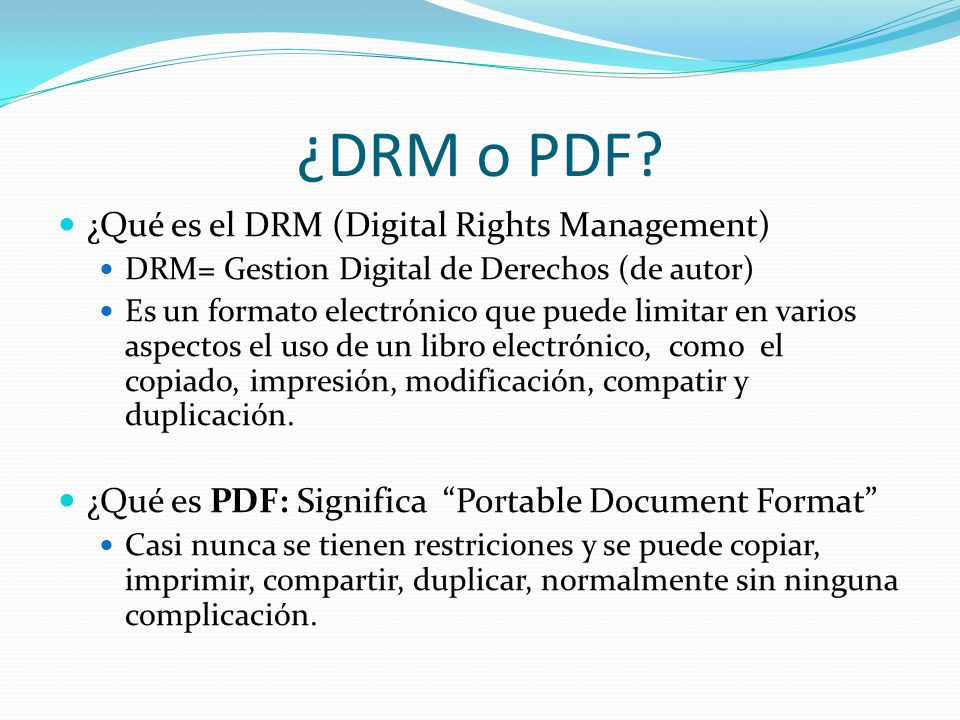 ¿DRM o PDF ¿Qué es el DRM (Digital Rights Management)