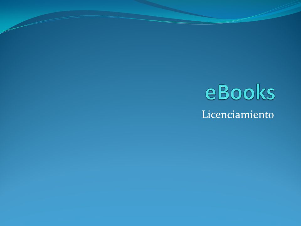 eBooks Licenciamiento