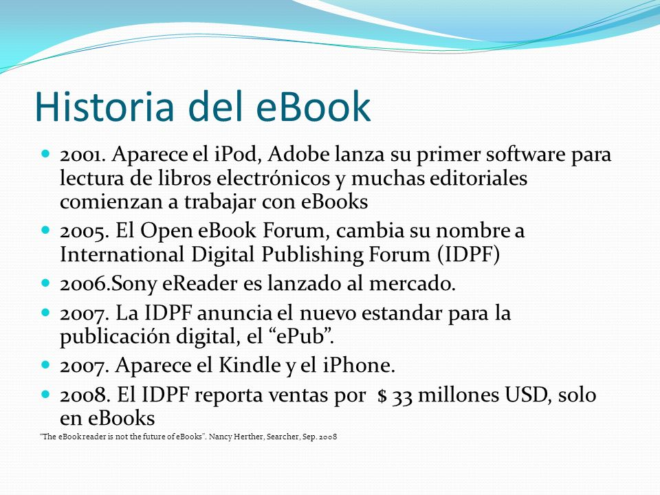 Historia del eBook