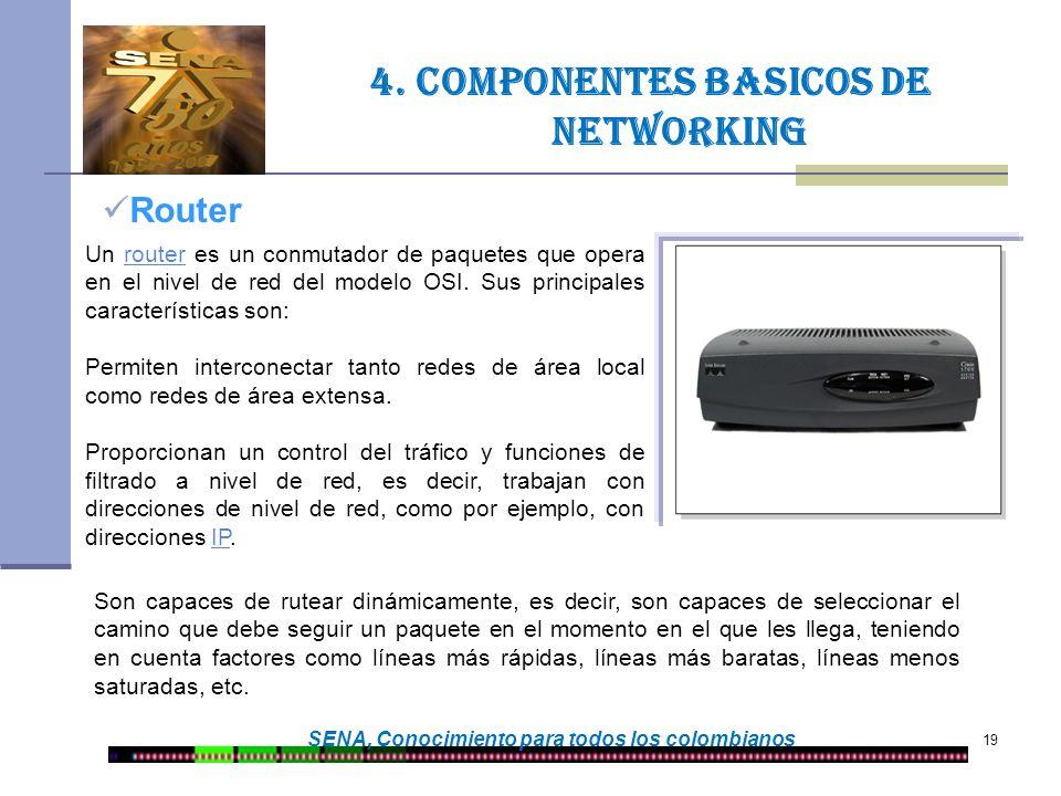 4. Componentes basicos de networking