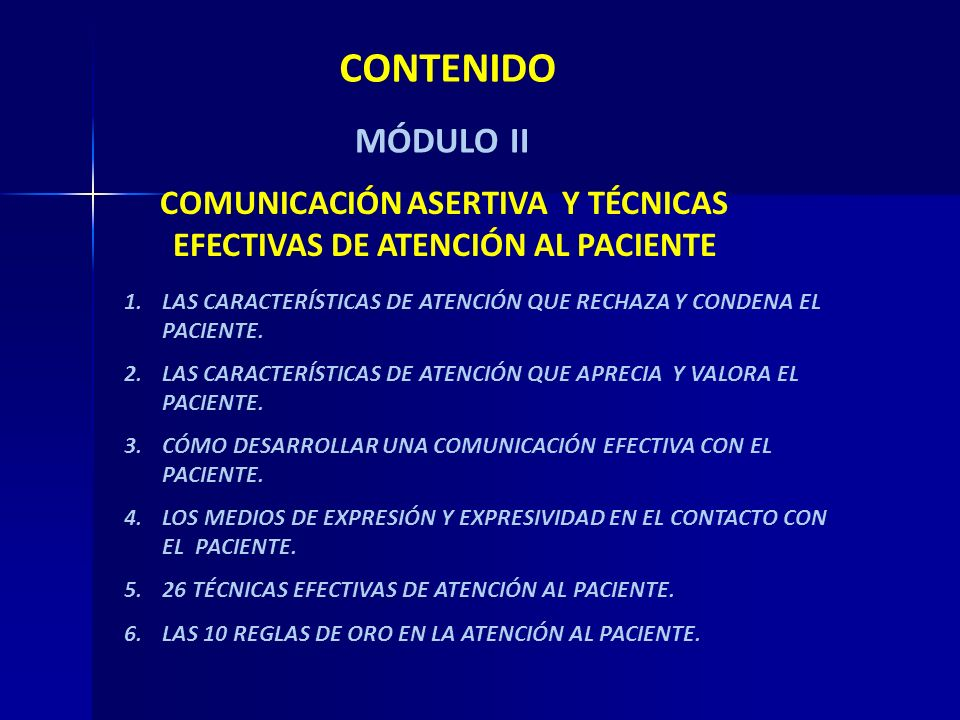 COMUNICACIÓN ASERTIVA Y TÉCNICAS EFECTIVAS DE ATENCIÓN AL PACIENTE