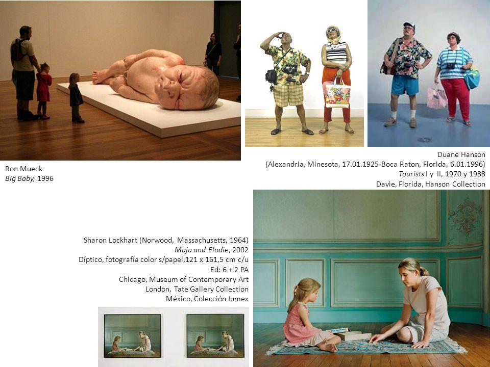 Duane Hanson (Alexandria, Minesota, 17.01.1925-Boca Raton, Florida, 6.01.1996) Tourists I y II, 1970 y 1988.