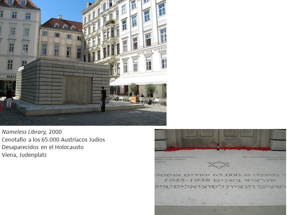 Nameless Library, 2000 Cenotafio a los 65.000 Austríacos Judíos
