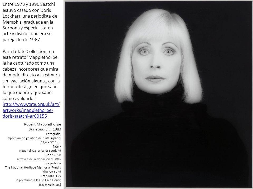 Entre 1973 y 1990 Saatchi estuvo casado con Doris Lockhart, una periodista de Memphis, graduada en la Sorbona y especialista en arte y diseño, que era su pareja desde 1967.