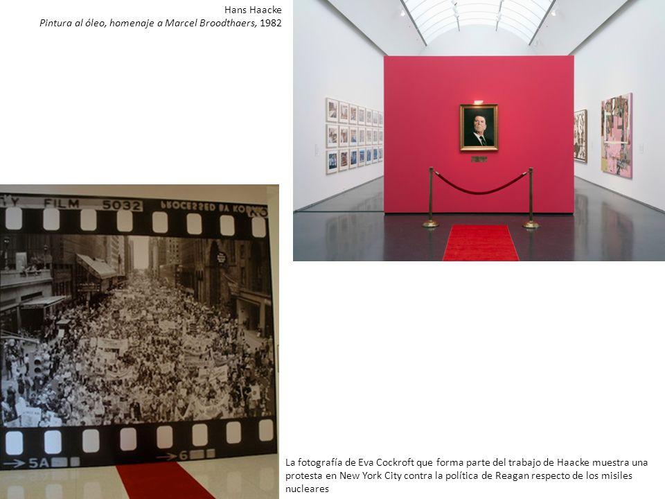 Hans Haacke Pintura al óleo, homenaje a Marcel Broodthaers, 1982.