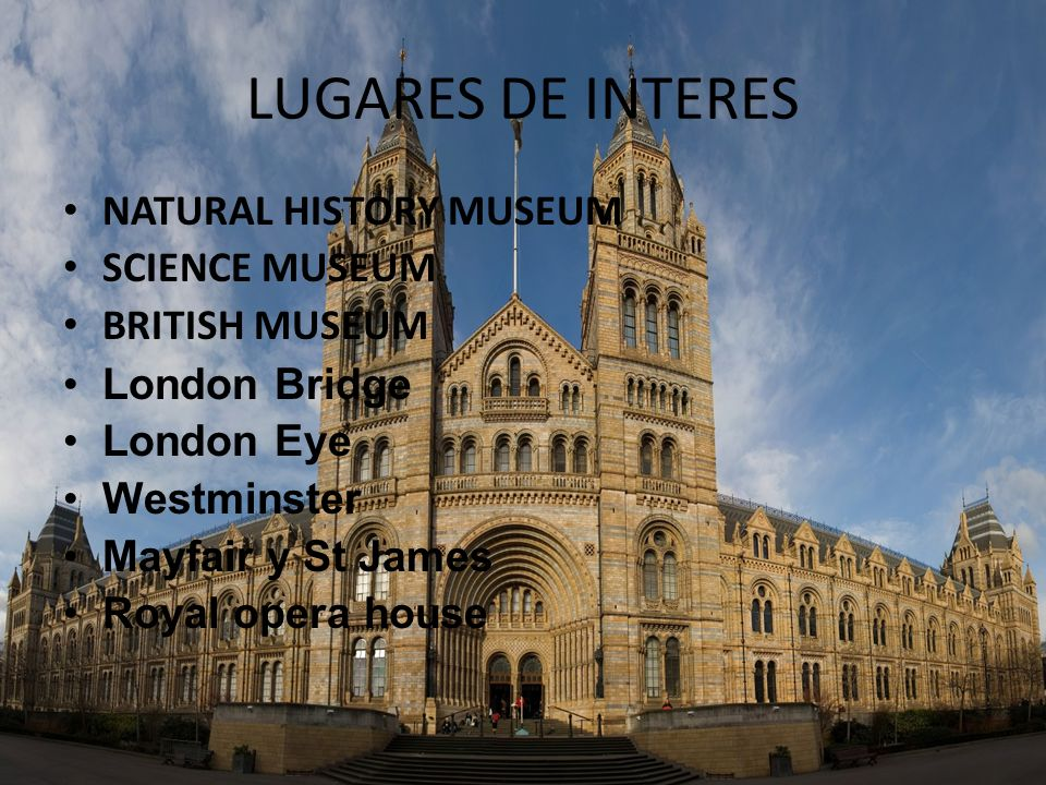 LUGARES DE INTERES NATURAL HISTORY MUSEUM SCIENCE MUSEUM