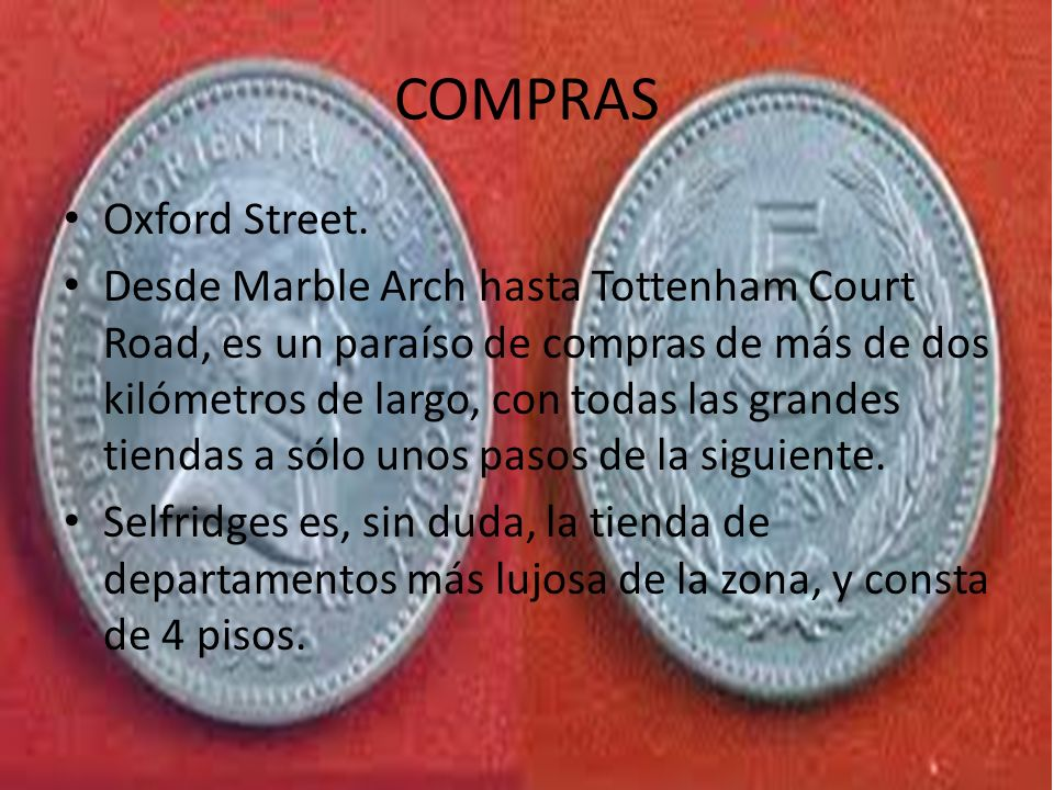 COMPRAS Oxford Street.