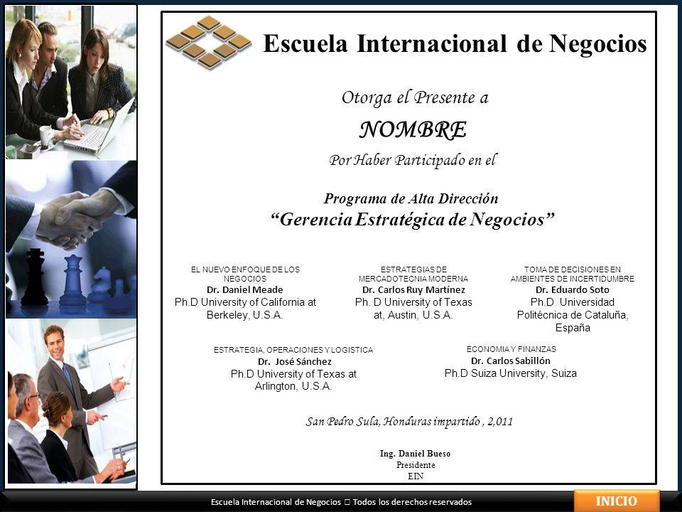 Programa de Alta Dirección Gerencia Estratégica de Negocios