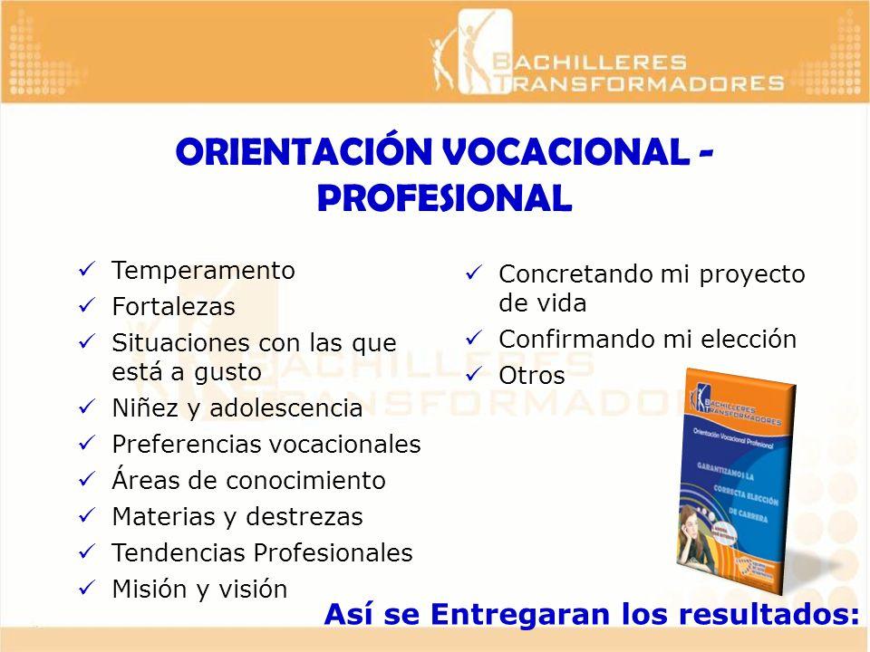 ORIENTACIÓN VOCACIONAL - PROFESIONAL
