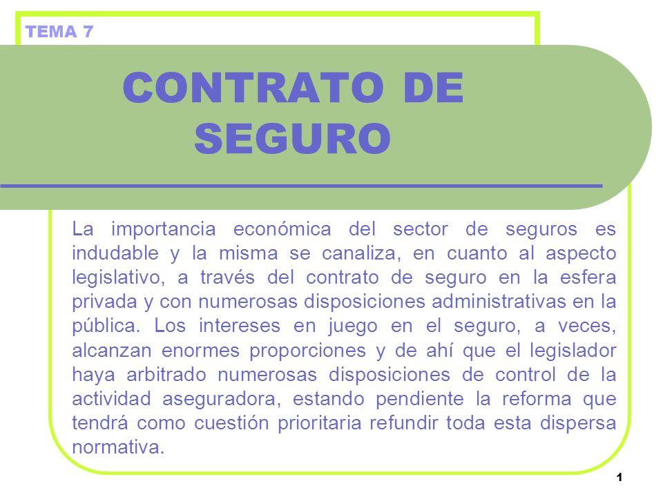 TEMA 7 CONTRATO DE SEGURO.