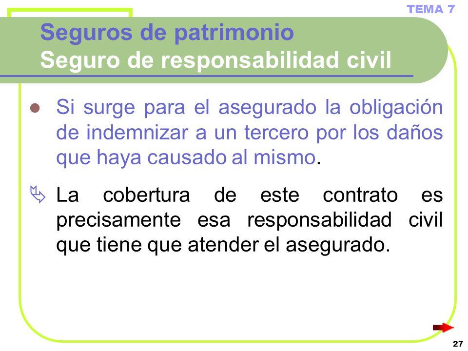 Tema 7 contrato de seguro ppt video online descargar for Seguro responsabilidad civil autonomos obligatorio