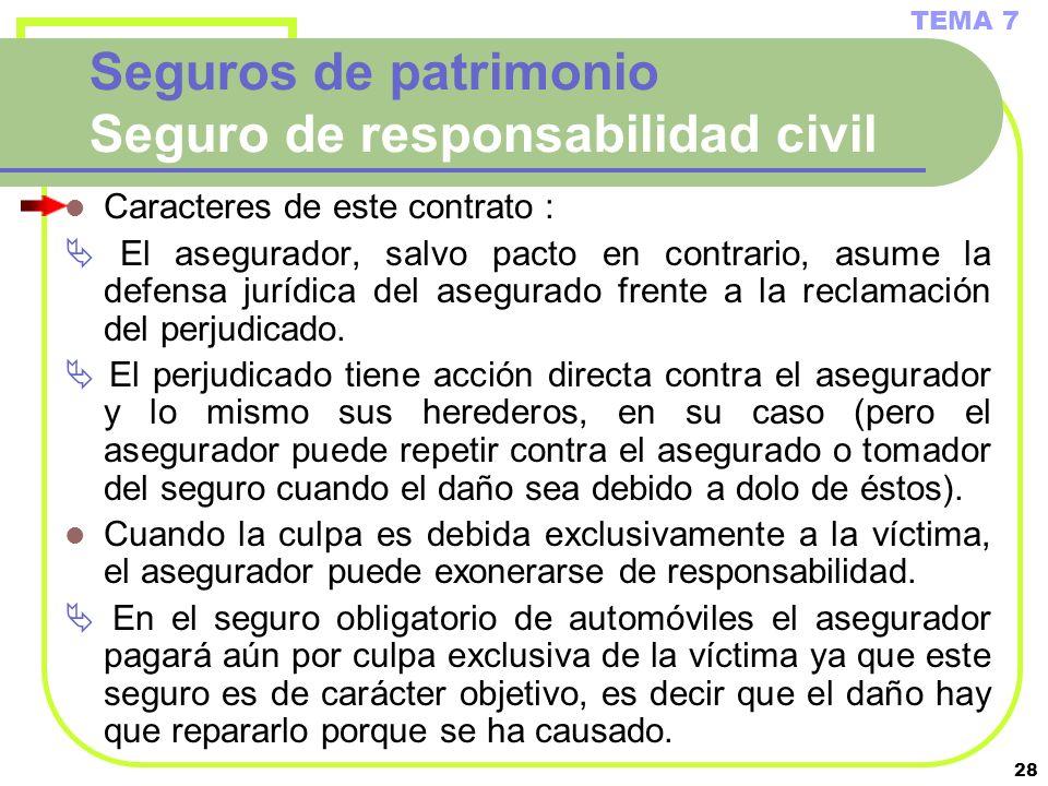 Seguros de patrimonio Seguro de responsabilidad civil