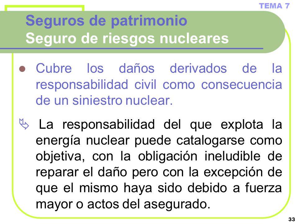 Seguros de patrimonio Seguro de riesgos nucleares
