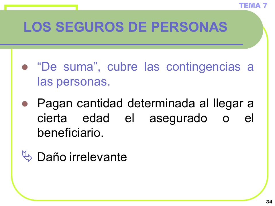 LOS SEGUROS DE PERSONAS