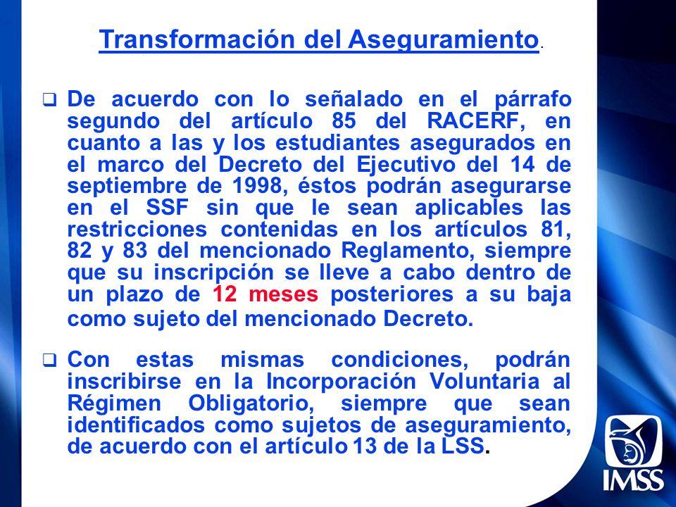 Transformación del Aseguramiento.