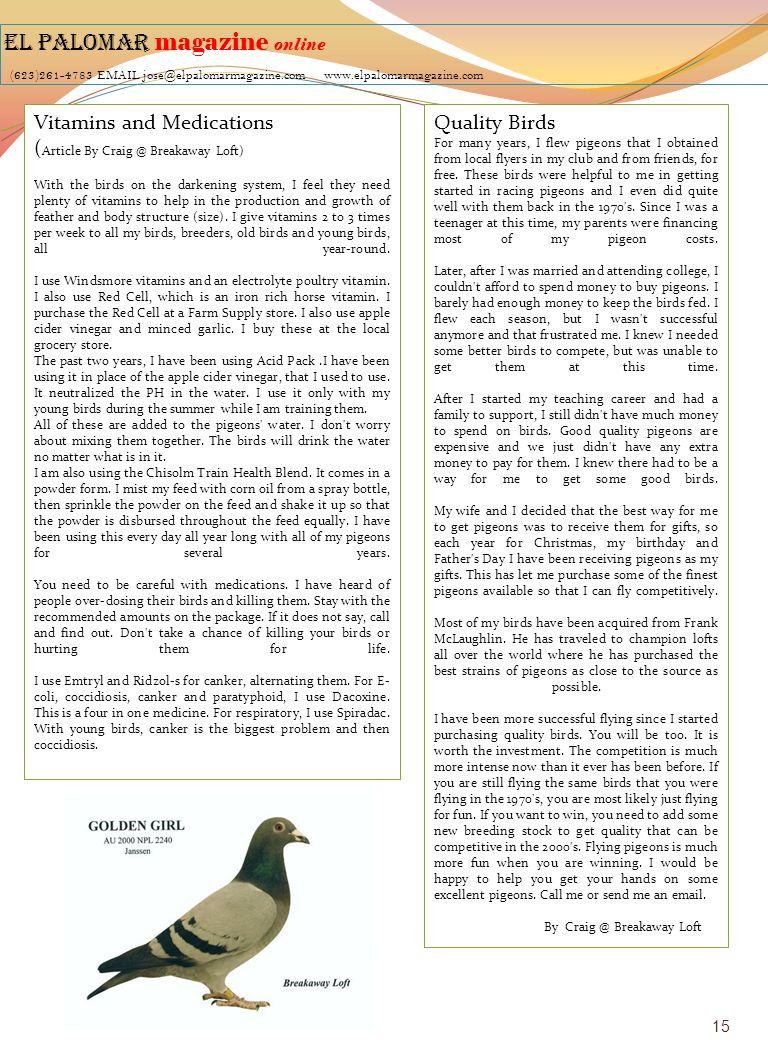 EL PALOMAR magazine online (623)261-4783 EMAIL jose@elpalomarmagazine