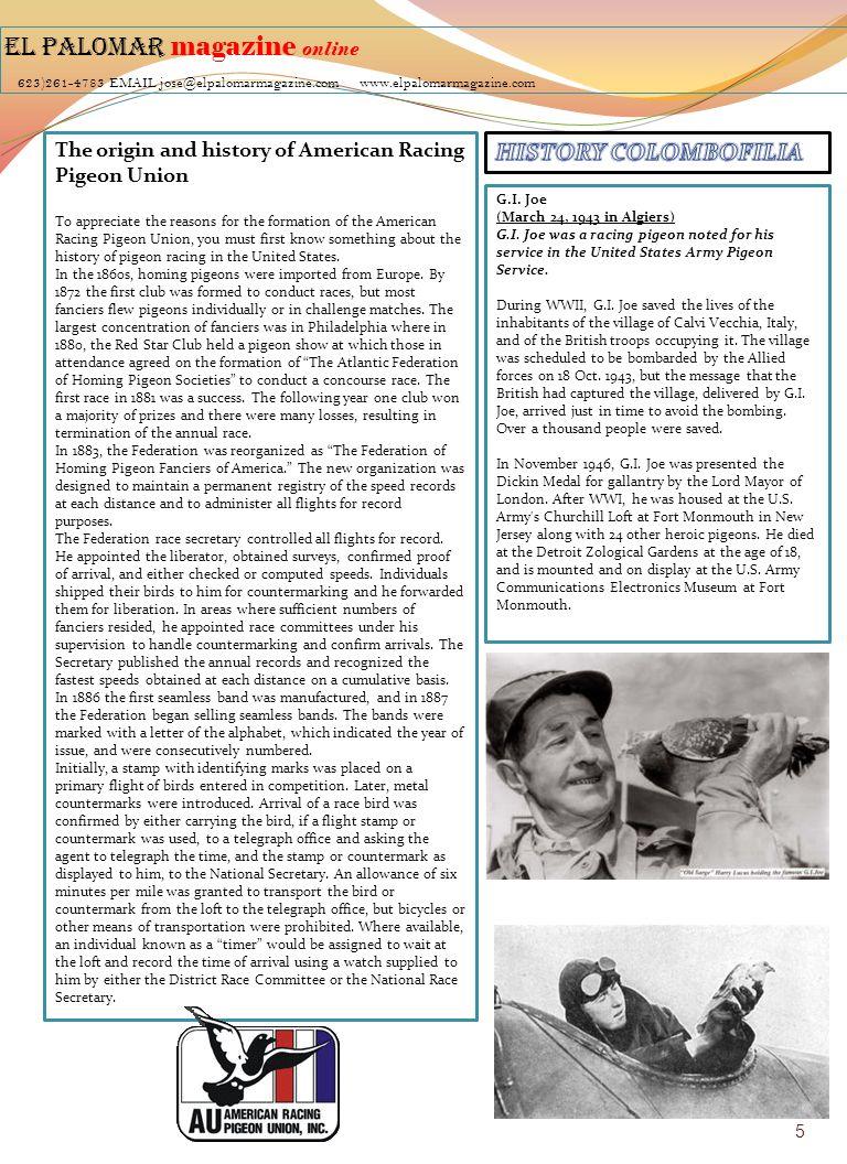 EL PALOMAR magazine online 623)261-4783 EMAIL jose@elpalomarmagazine
