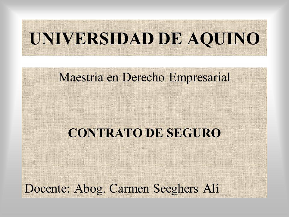 Maestria en Derecho Empresarial