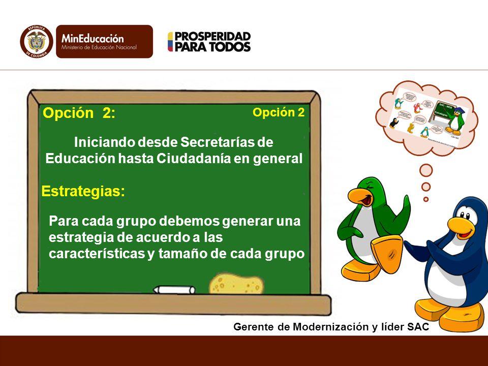 Iniciando desde Secretarías de Educación hasta Ciudadanía en general