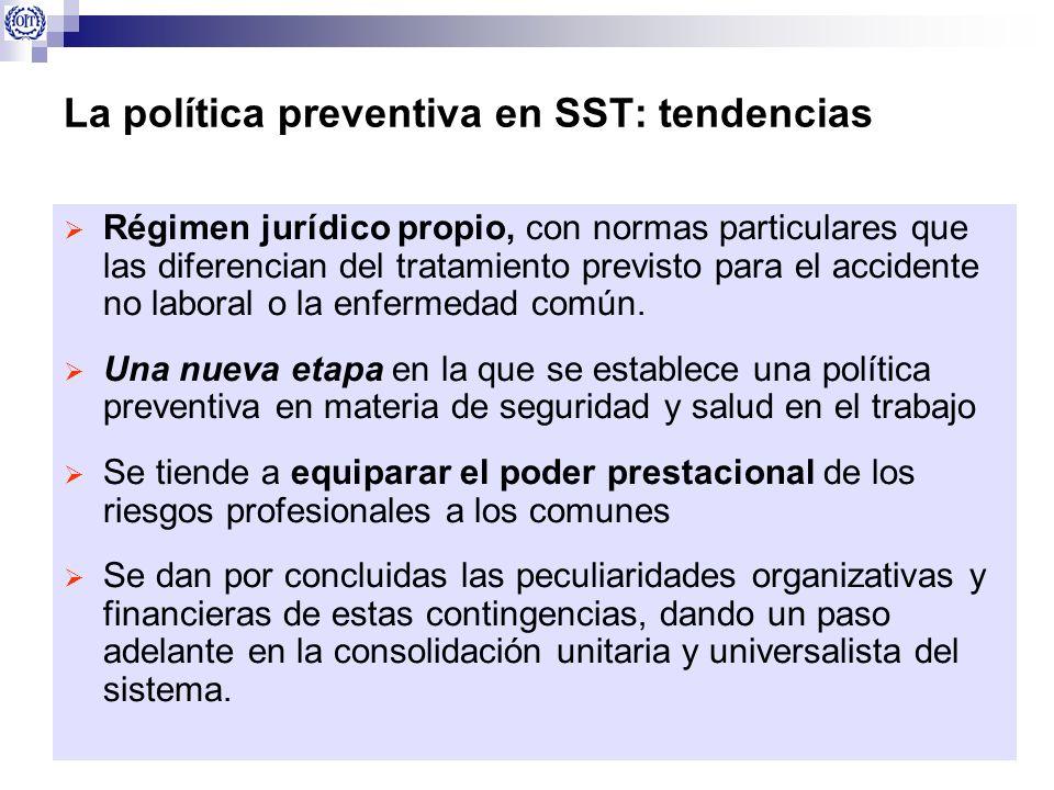 La política preventiva en SST: tendencias