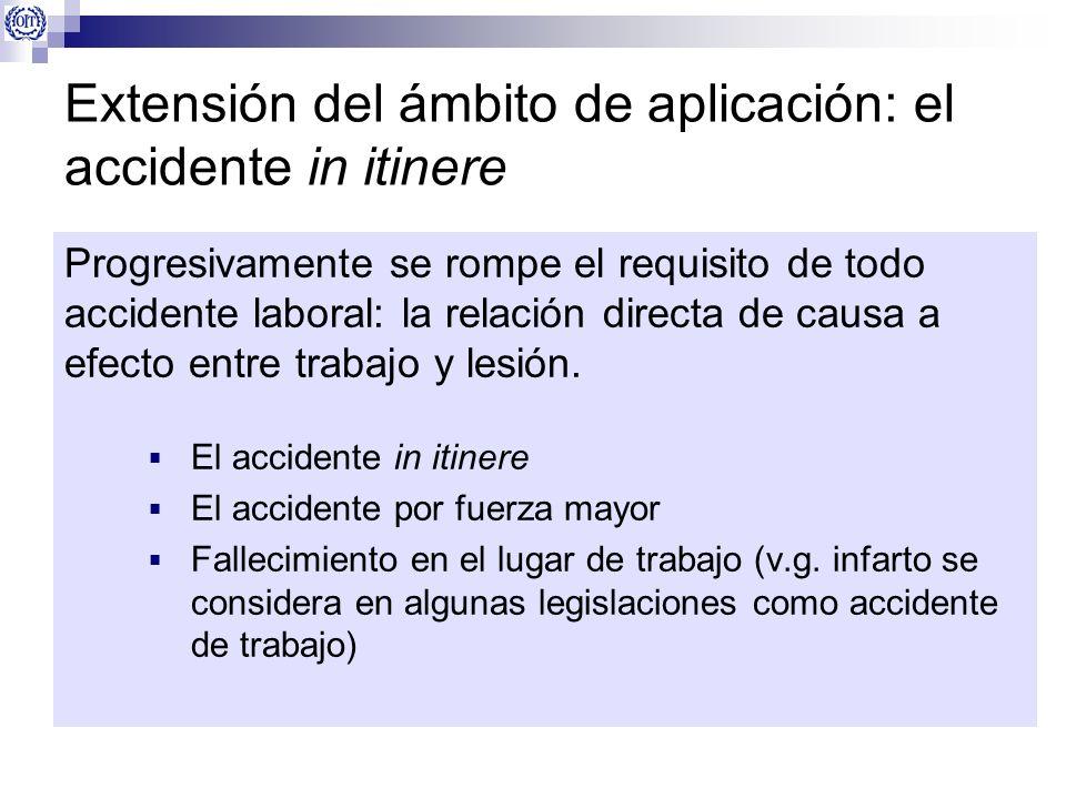 Extensión del ámbito de aplicación: el accidente in itinere