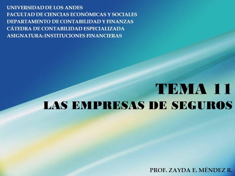 TEMA 11 LAS EMPRESAS DE SEGUROS