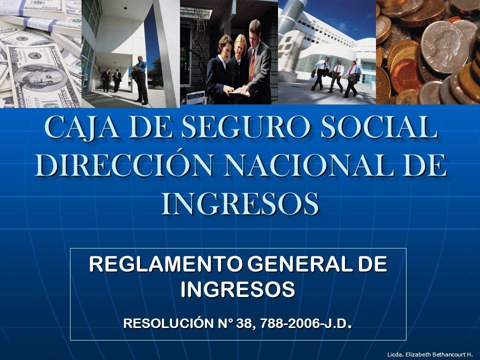 CAJA DE SEGURO SOCIAL DIRECCIÓN NACIONAL DE INGRESOS