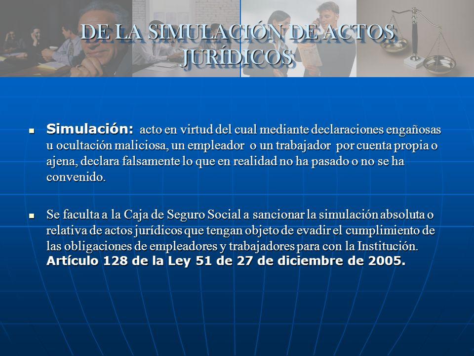 DE LA SIMULACIÓN DE ACTOS JURÍDICOS