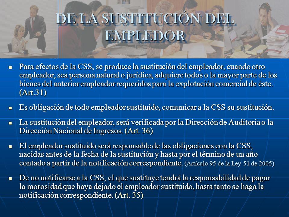 DE LA SUSTITUCIÓN DEL EMPLEDOR