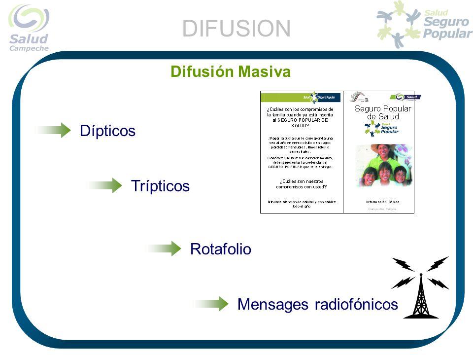 DIFUSION Difusión Masiva Dípticos Trípticos Rotafolio