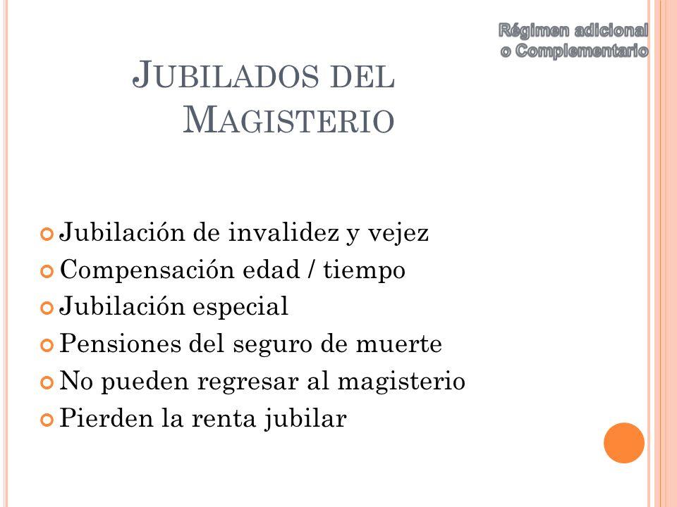 Jubilados del Magisterio