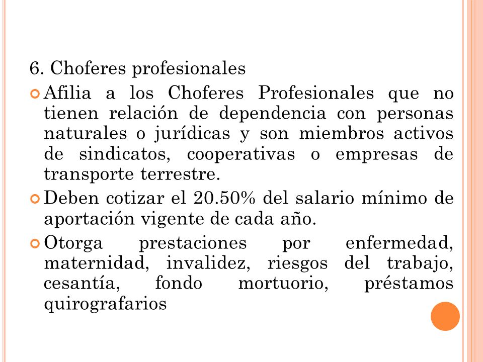 6. Choferes profesionales