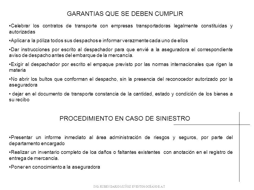 GARANTIAS QUE SE DEBEN CUMPLIR