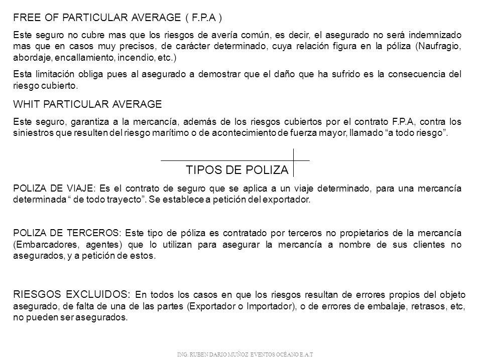 ING. RUBEN DARIO MUÑOZ EVENTOS OCÉANO E.A.T