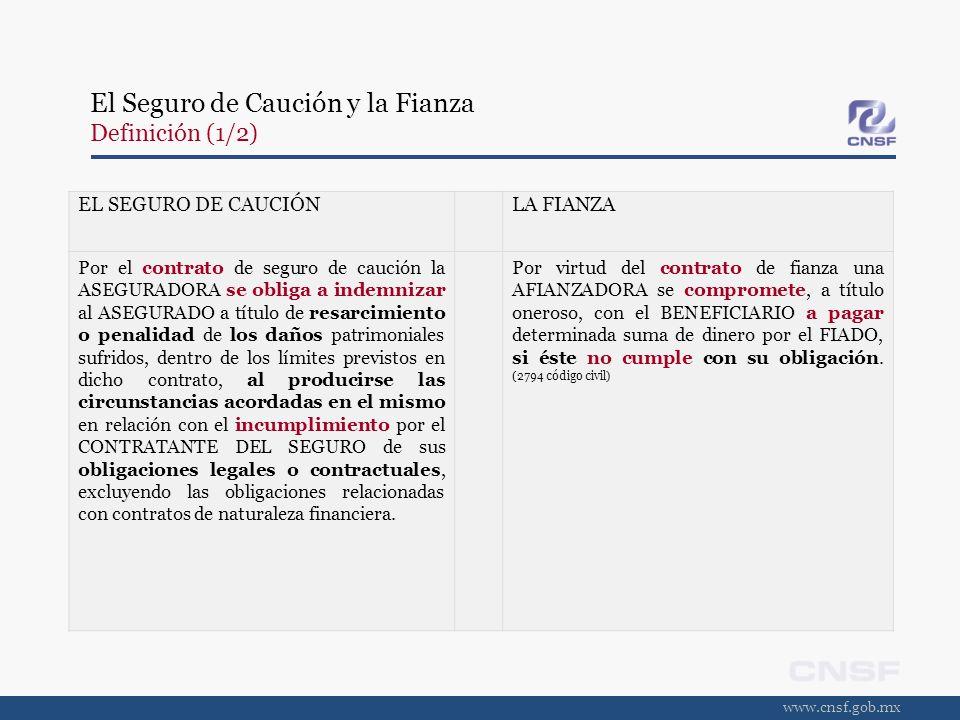El Seguro de Caución y la Fianza Definición (1/2)