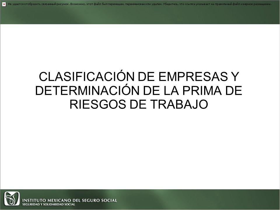 CLASIFICACIÓN DE EMPRESAS Y DETERMINACIÓN DE LA PRIMA DE RIESGOS DE TRABAJO