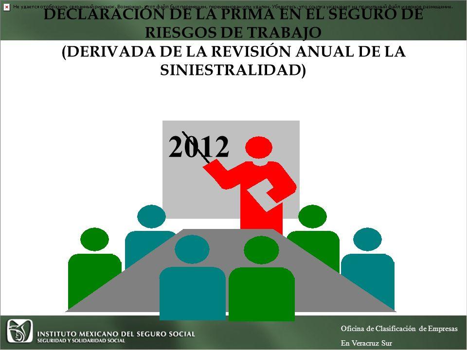 2012 DECLARACIÓN DE LA PRIMA EN EL SEGURO DE RIESGOS DE TRABAJO