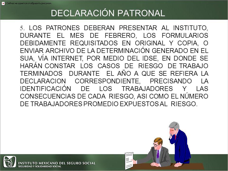 DECLARACIÓN PATRONAL