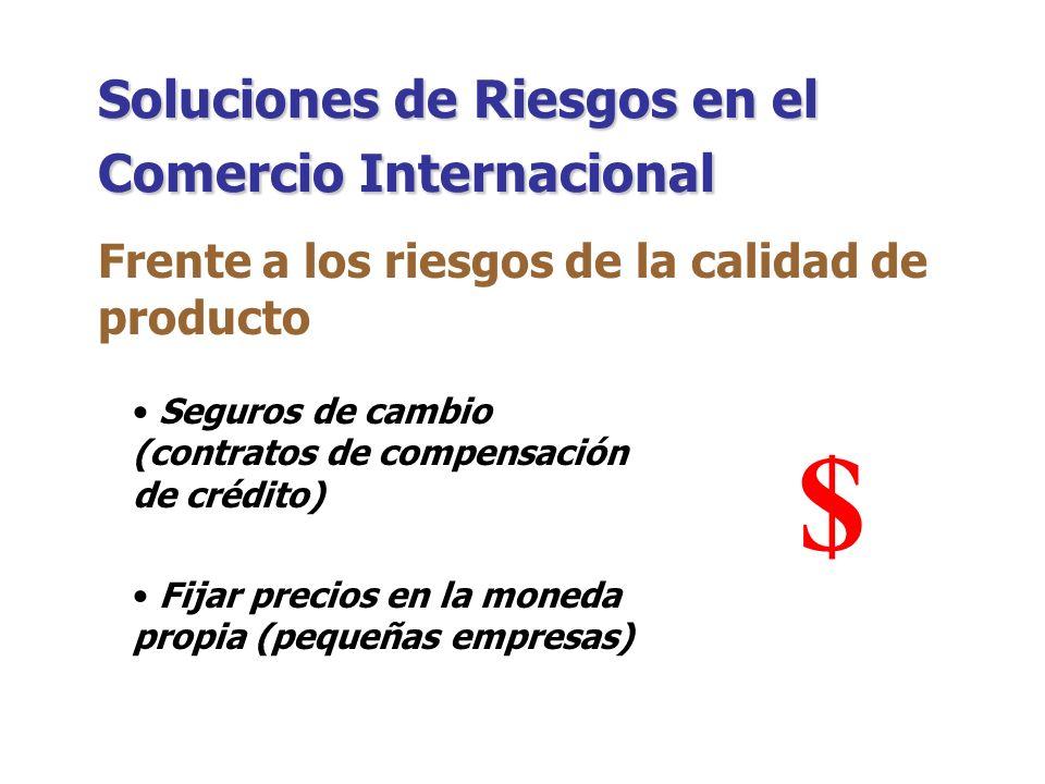 $ Soluciones de Riesgos en el Comercio Internacional
