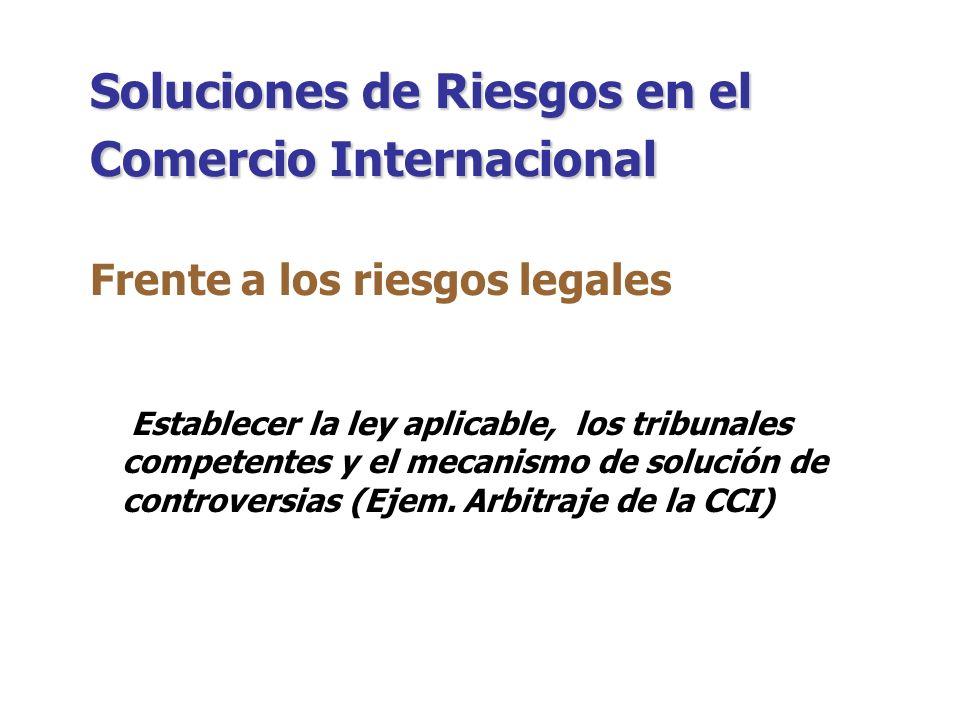 Soluciones de Riesgos en el Comercio Internacional