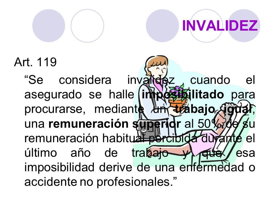 INVALIDEZ Art. 119.