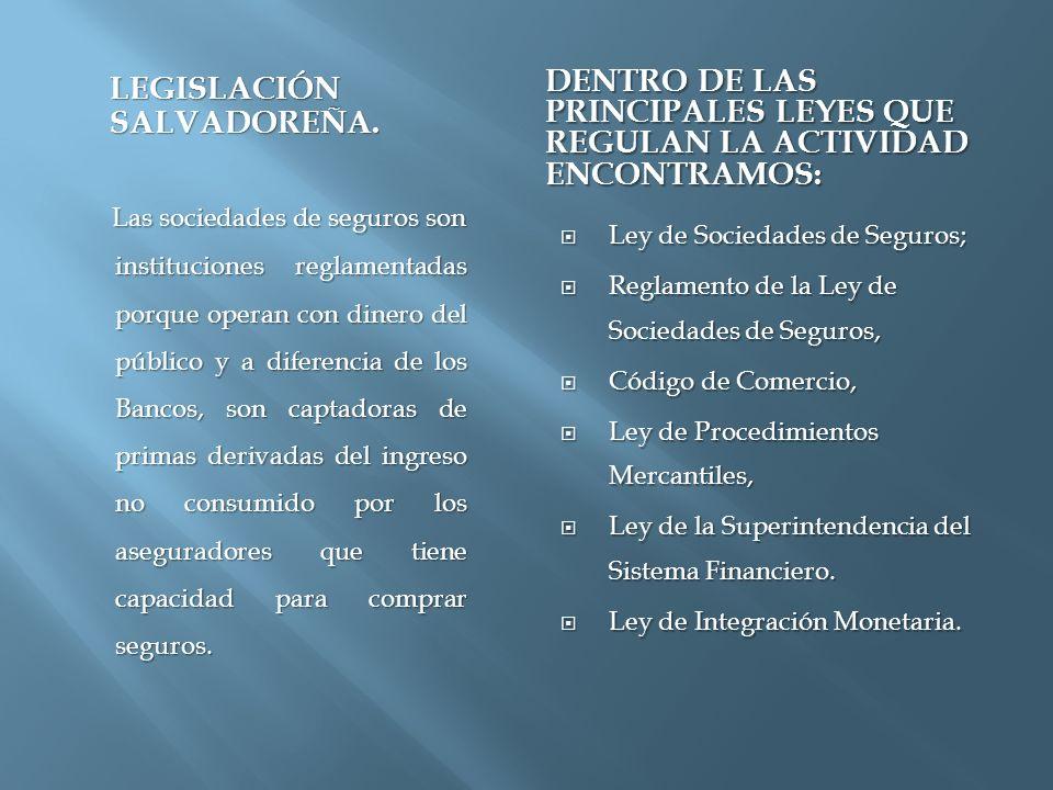 LEGISLACIÓN SALVADOREÑA.