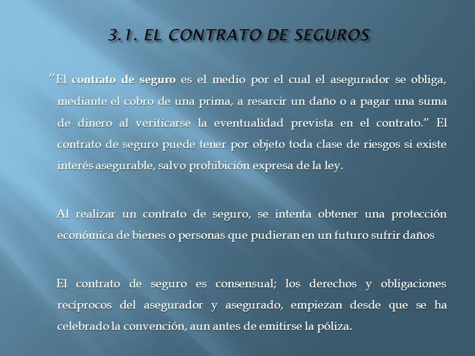 3.1. EL CONTRATO DE SEGUROS