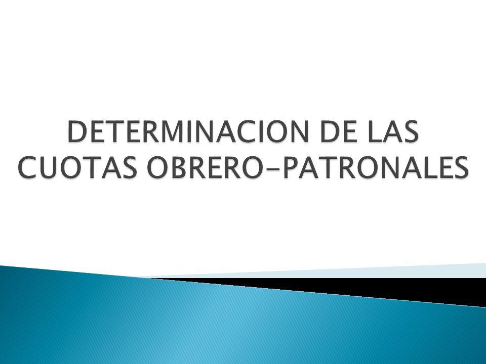 DETERMINACION DE LAS CUOTAS OBRERO-PATRONALES
