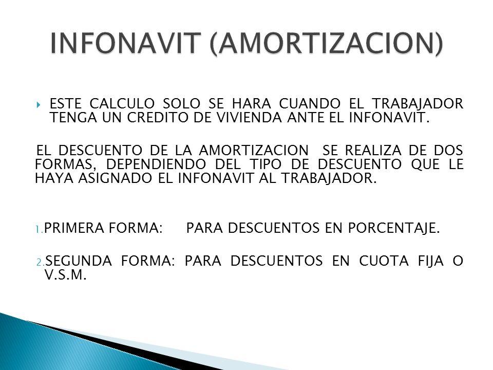 INFONAVIT (AMORTIZACION)