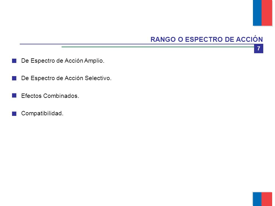 RANGO O ESPECTRO DE ACCIÓN