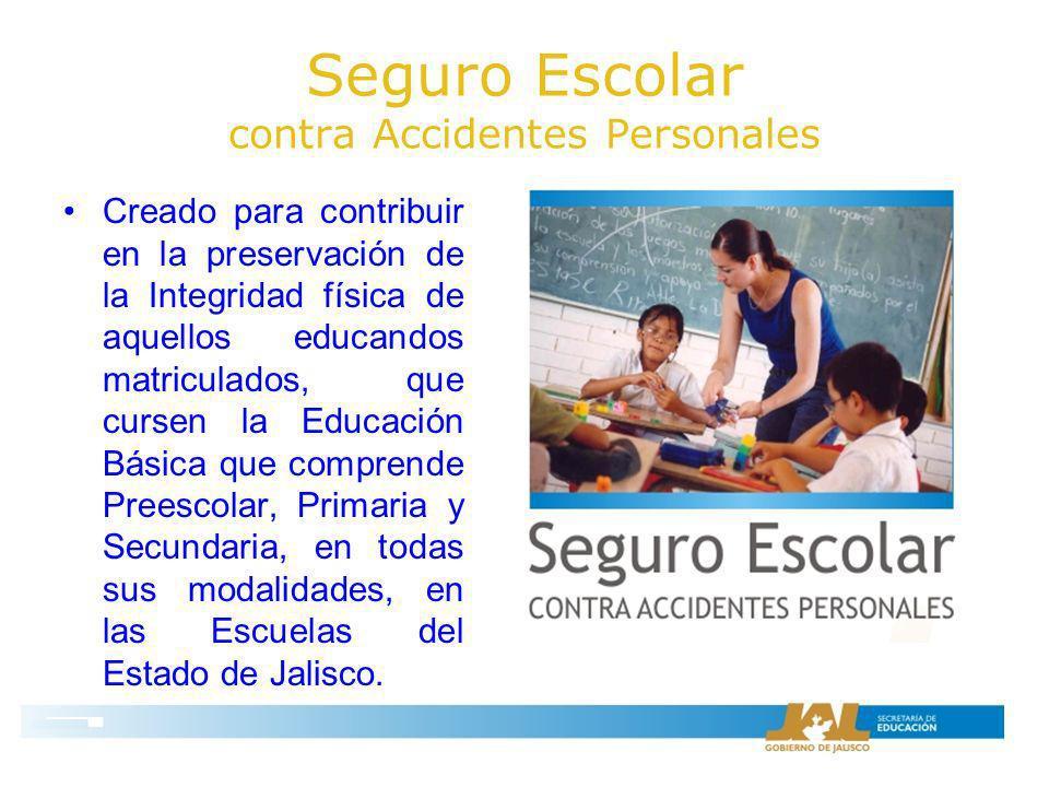 Seguro Escolar contra Accidentes Personales