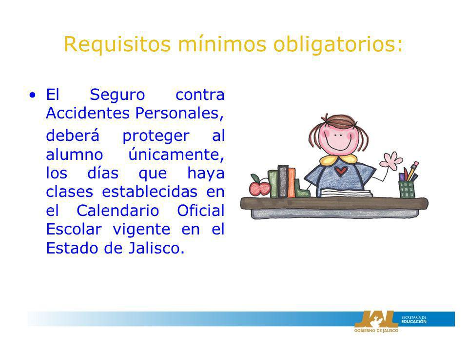 Requisitos mínimos obligatorios: