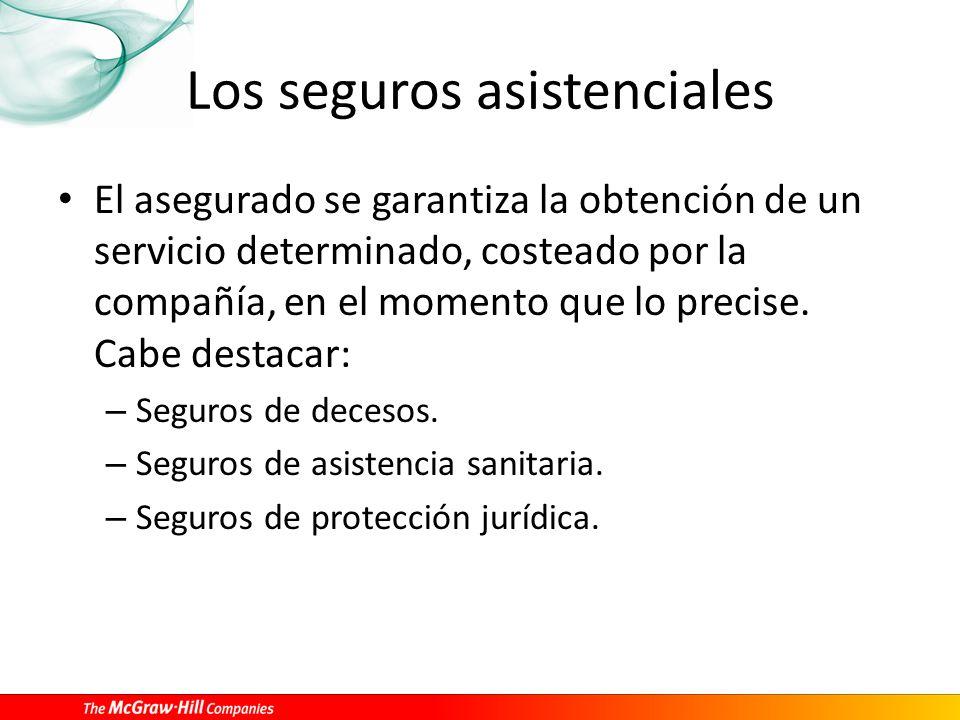 Los seguros asistenciales
