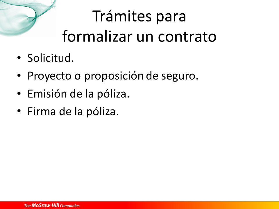 Trámites para formalizar un contrato